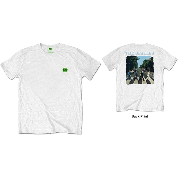 The Beatles - Abbey Road & Logo Men's Small Short Sleeve T-Shirt - White