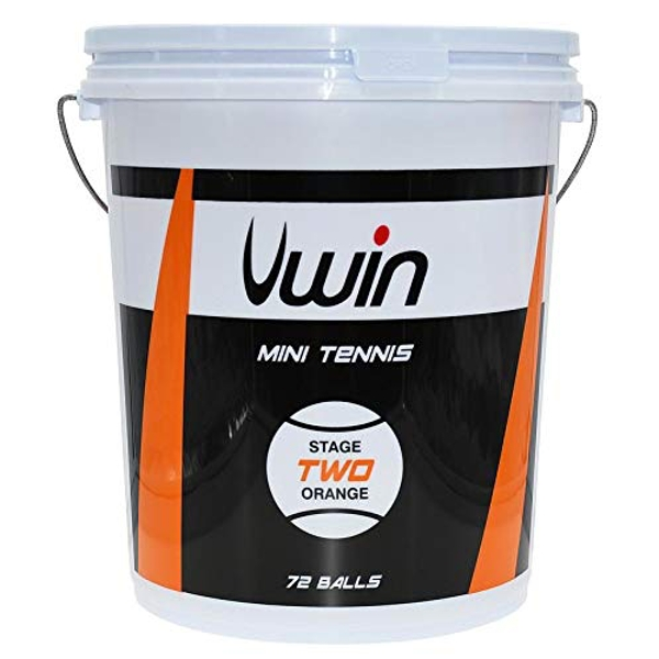 Uwin Stage 2 Orange Tennis Balls – Bucket of 72 balls