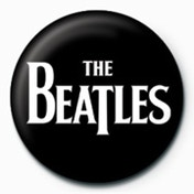 The Beatles - Whie Logo Badge