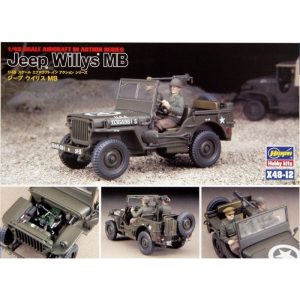 Hasegawa 1:48 Jeep Willys MB Model Kit - Image 1