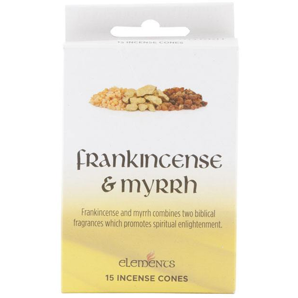 12 Packs of Elements Frankincense and Myrrh Incense Cones