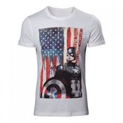 Marvel Comics Captain America Civil War Stars and Stripes Small T-Shirt