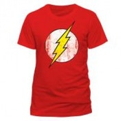 DC COMICS The Flash Logo T-Shirt, Unisex, Extra Large, Red