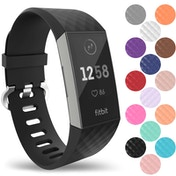 YouSave Fitbit Charge 3 Silicone Strap - Large - Black