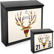 Deer Antlers Printed Mail Box - add your  house number / name for a unique mail box!