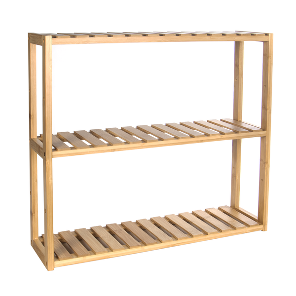 3 Tier Bamboo Shelves | M&W - Natural