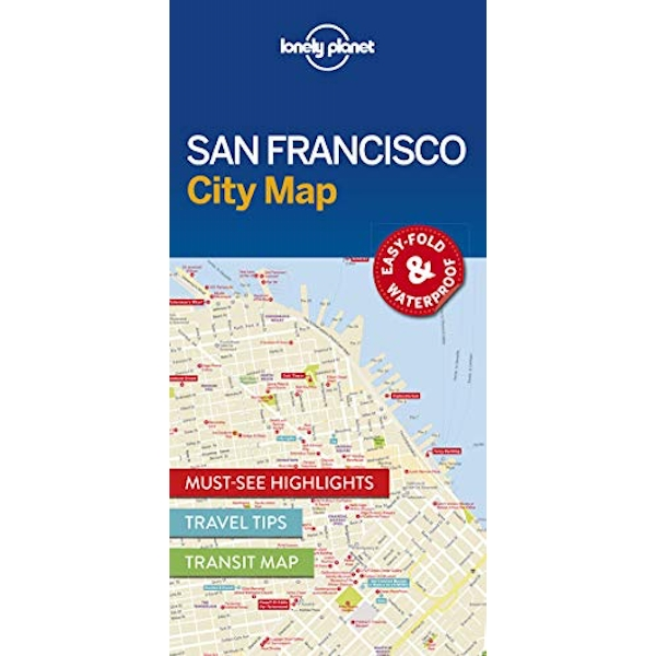 Lonely Planet San Francisco City Map  Sheet map, folded 2016