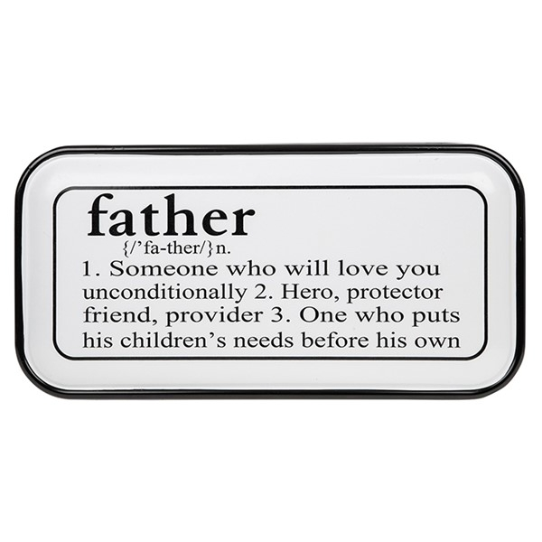 Vintage Enamel Plaque Oblong Father