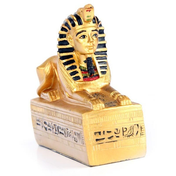 Gold Egyptian Sphinx (Pack Of 6) Figurine
