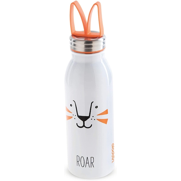 Aladdin Zoo Vacuum Insulated Water Bottle 0.45L Lion White