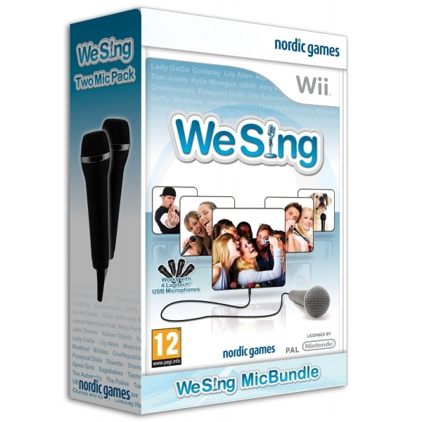 We Sing Game + 2 Logitech USB Microphones Wii