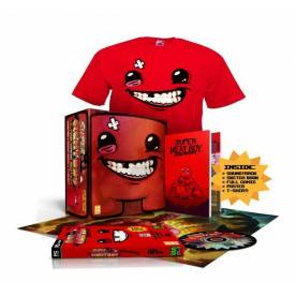 Super Meat Boy Ultra Rare Edition Game Includes T-Shirt PC