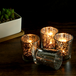 Set of 12 Speckled Tealight Candle Holders | M&W Silver - Image 4
