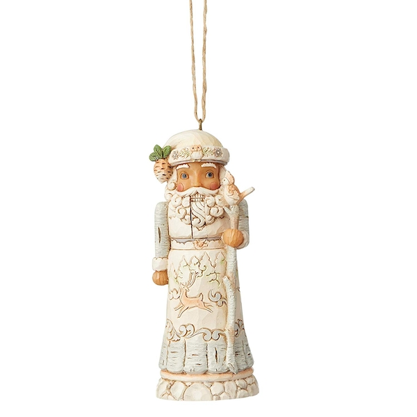 White Woodland Nutcracker Hanging Ornament