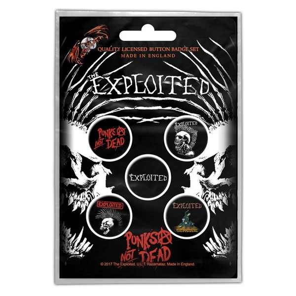 The Exploited - Punks Not Dead Button Badge Pack