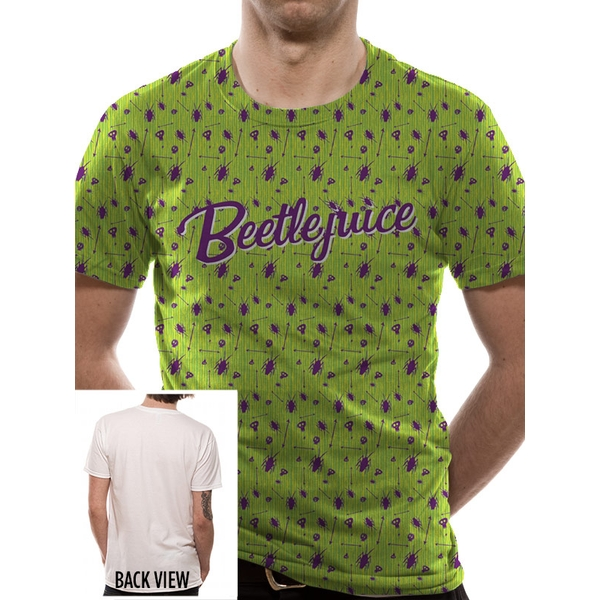 Beetlejuice - Beetle Pattern Men's XX-Large T-Shirt - Green