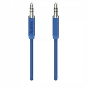 Hama Design Line Audio Cable, aluminium, 1m, blue
