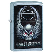 Zippo Harley-Davidson Skull and Wings Street Chrome Windproof Lighter