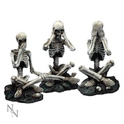 See No, Hear No, Speak No Skeletons (Set 3) Figures