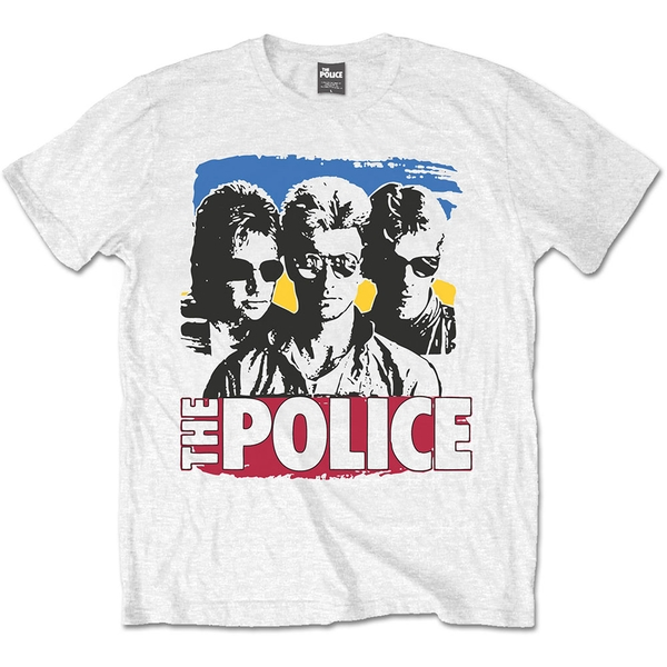 The Police - Band Photo Sunglasses Unisex Large T-Shirt - White