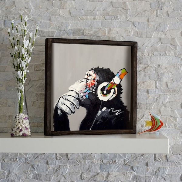 KZM670 Multicolor Decorative Framed MDF Painting
