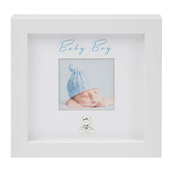 """3"""" x 3"""" - Baby Boy Box Frame with Engraving Plate"""