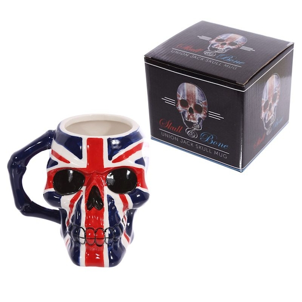 Skull Head Union Flag Ceramic Mug