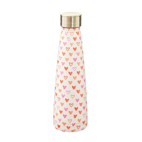 Sass & Belle Red Love Heart Stainless Steel Water Bottle