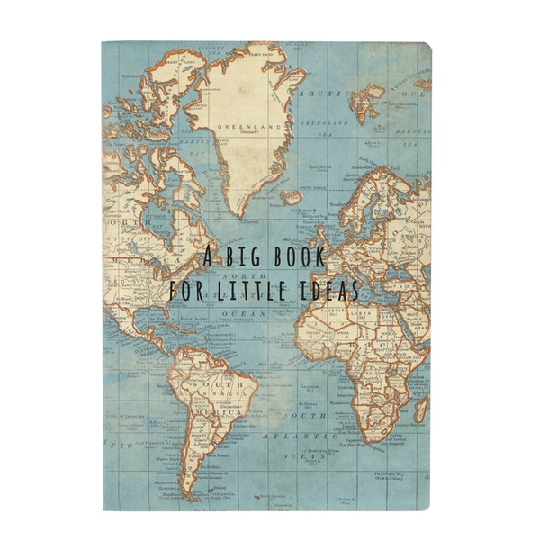 Sass & Belle Big Book For Little Ideas Vintage Map A5 Notebook
