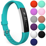 Yousave Fitbit Alta / Alta HR Strap Single Large - Cyan