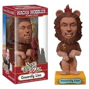 Ex-Display Wizard of Oz Cowardly Lion Bobble Head Used - Like New