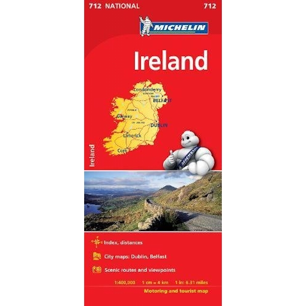 Ireland - Michelin National Map 712 Map Sheet map 2018