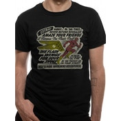 Dc Originals - Flash Wings Men's Small T-Shirt - Black