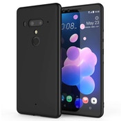 CASEFLEX HTC U12 MATTE TPU GEL - SOLID BLACK