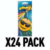 Black Ice Cool Dude (Pack Of 24) Emoji Air Freshener