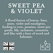 Sweet Pea & Violet (Pastel Collection) Tin Candle - Image 4