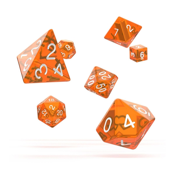 Oakie Doakie Dice RPG Set (Translucent Orange)