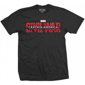 Marvel - Captain America Civil War Movie Logo Men's Small T-Shirt - Black