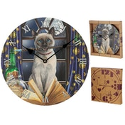 Cat Hocus Pocus Lisa Parker Wall Clock