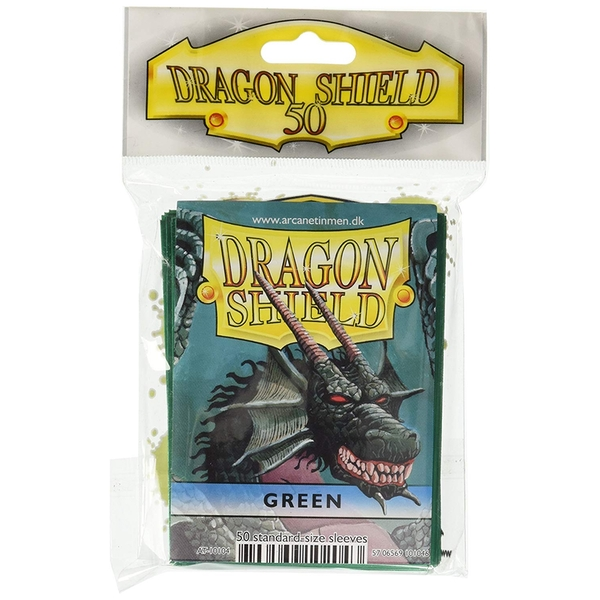 Dragon Shield Classic- Green 50 Sleeves (10 Packs)