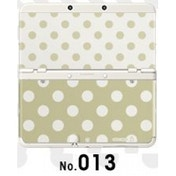 New Nintendo 3DS Cover Plates No 013 White & Gold Polkadot Faceplate