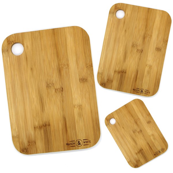 3 Bamboo Chopping Boards   M&W - Image 2