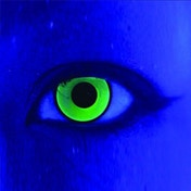 UV Mal Chick Yellow 1 Day Coloured Contact Lenses (MesmerEyez MesmerGlow)