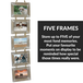 5 Wooden Picture Frame Hanger | M&W - Image 3
