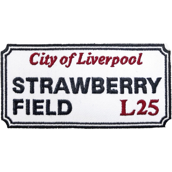 Road Sign - Strawberry Field, Liverpool Sign Standard Patch