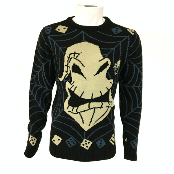 Nightmare Before Christmas - Ooogie Boogie Unisex Christmas Jumper Large