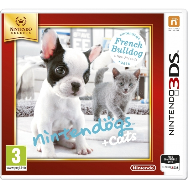 Nintendogs + Cats French Bulldog & New Friends Edition 3DS Game (Selects) - Image 1
