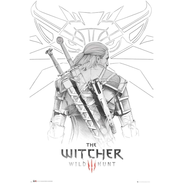 The Witcher Geralt Sketch Poster