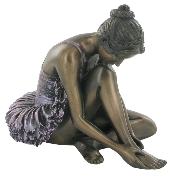 Ballet Dancer Coloured Cold Cast Bronze Sculpture