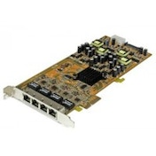 StarTech 4 Port Gigabit Power over Ethernet PCIe Network Card PSE / PoE PCI Express NIC